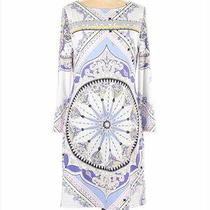 Emilio Pucci Abstract Sheath Silk Jersey Dress
